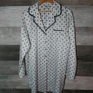 Croft & Barrow silky pajama night gown